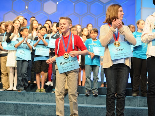 Brendan Pawlicki at the the Scripps National Spelling