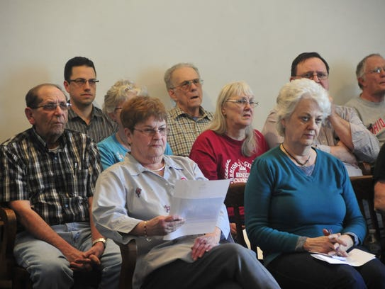 More than a dozen residents met at Galion City Hall