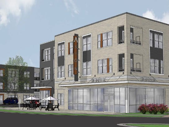 Artist's rendering depicting what the mixed use space