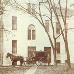 This was the ambulance entrance to the original Reid Memorial Hospital.