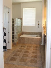 A general photo of the bathroom is a good example of