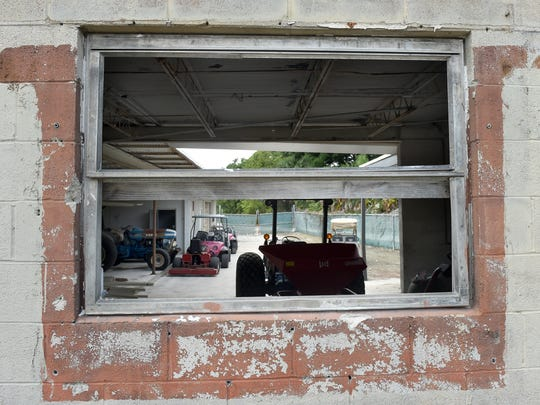 Areas in need of repair and renovation are shown Wednesday,
