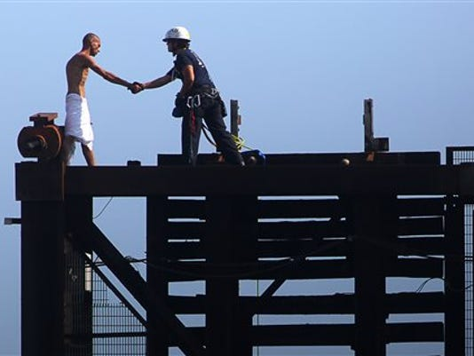 Naked Man Bridge Rescue