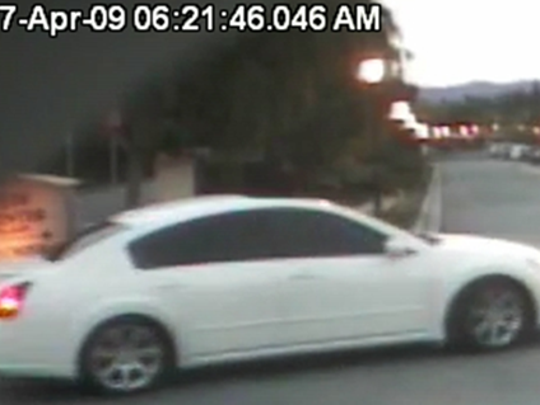 A male seen breaking into vehicles near California Lutheran University earlier this month was seen leaving the area in a white Nissan Maxima.