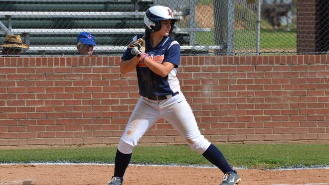 Left-fielder Jordan Mason of Louisiana College went 2-for-3 and scored a run in LC's softball victory over LeTourneau at Coca-Cola Field Wednesday.