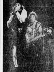 Miami Steve (now Little Stevie) Van Zandt (left) and