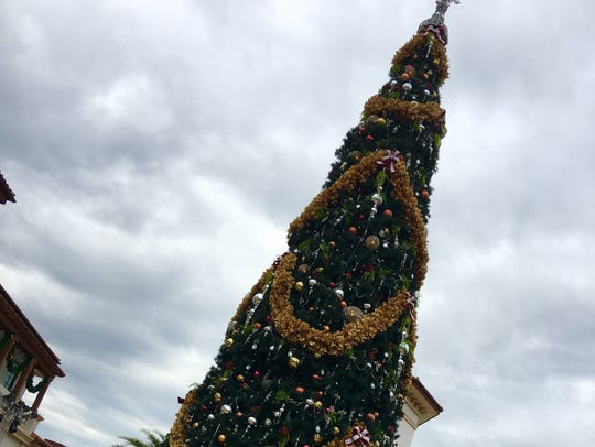 The holiday decor will amaze you at Disney Springs