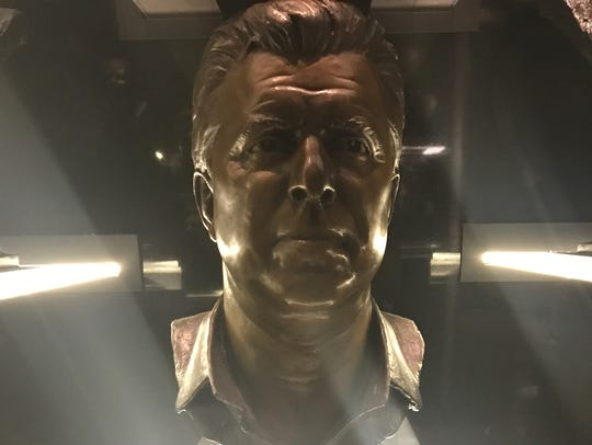 Bill Parcells' bust inside the Pro Football Hall of