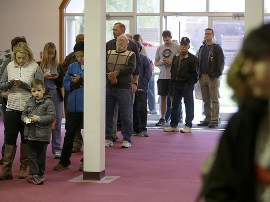 Voters Cross Life Free Will Baptist Church in Franklin