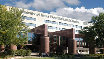 University of Iowa Hospitals in Iowa City.