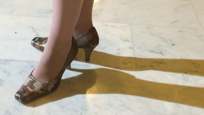 Combat heels: These are the shoes Iowa Republican U.S. Sen. Joni Ernst will wear during her State of the Union rebuttal.