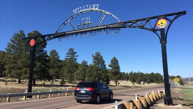 The road into Williams, which prides itself as the gateway to the Grand Canyon, though there are things to see and do if you want to stick around.