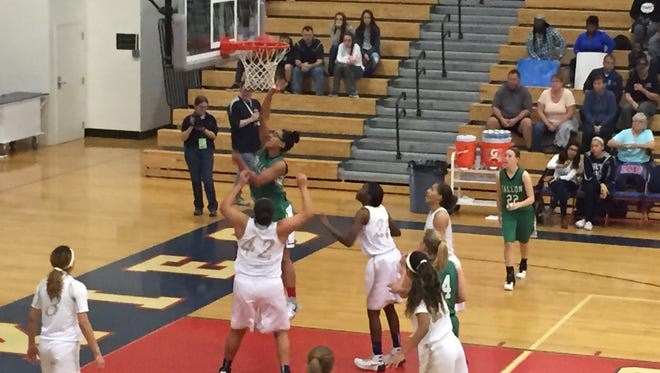 Fallon's Leta Otuafi goes up for a basket in Friday's game at Reno High.