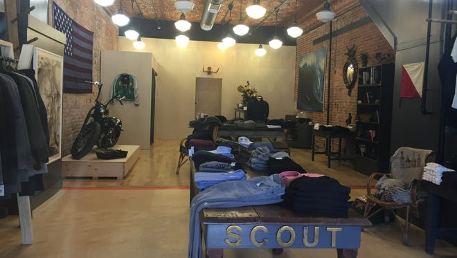 Scout, a new contemporary men's clothing store, opens Friday in the former Zephyr and Design Space at 124 E. Washington Street downtown.