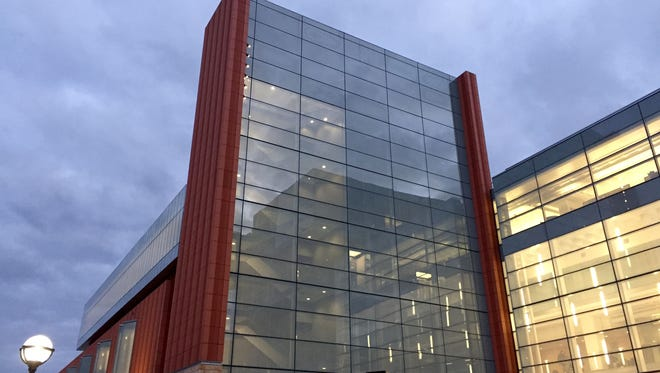 At the University of Michigan in Ann Arbor, a $135 million construction project at the Ross School of Business included the new Jeff T. Blau Hall, pictured, which spans 104,000 square feet plus 75,000 square feet of renovated space inside the attached Kresge Business Administration Library. A celebration was held on Oct. 21, 2016 to honor the donors who funded the recently completed project.