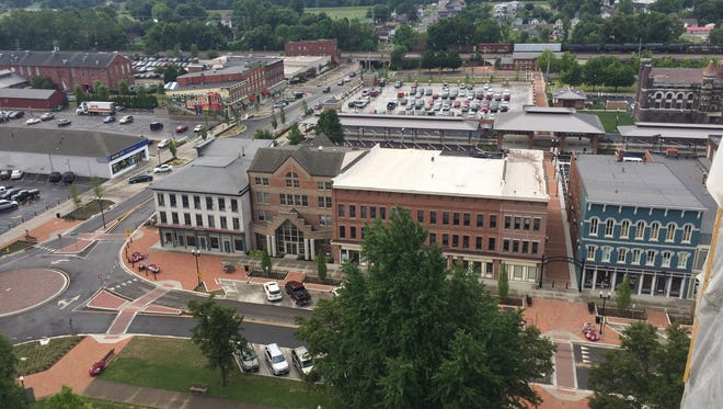 Downtown view from the top of the Licking County Courthouse.