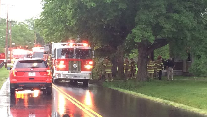The Chillicothe and VA fire departments respond to a fire at 89 Plyleys Lane on Thursday morning.