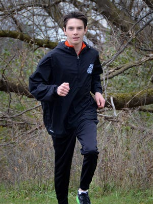 Zachary Stewart of Brighton is only a sophomore, but has already been all-state twice in cross country.