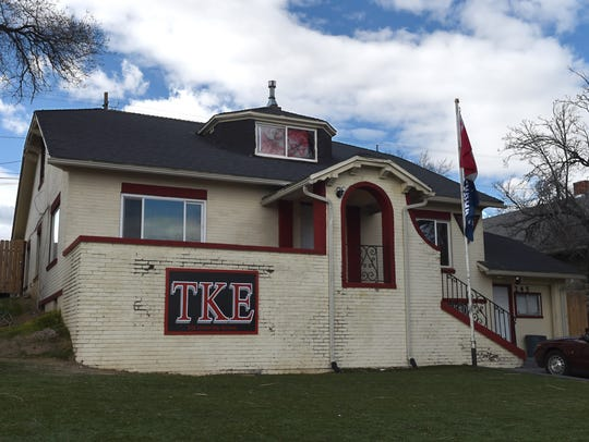 Tau Kappa Epsilon house on University Terrace, Feb.