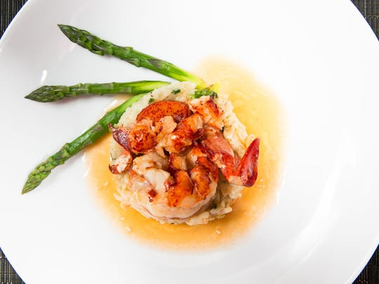 The Lazy Lobster dish at Brandl in Belmar is made with lobster poached in vanilla bean butter and served over asparagus risotto.