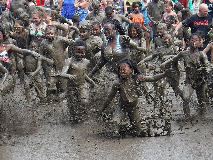 The annual Wayne County Mud Day is a sloppy success.