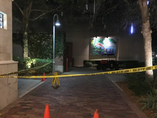 A 5-year-old child was struck by a golf cart at the Avenue Viera.