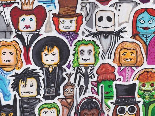 Jamie Meagher's artwork Mr. Burton's World.