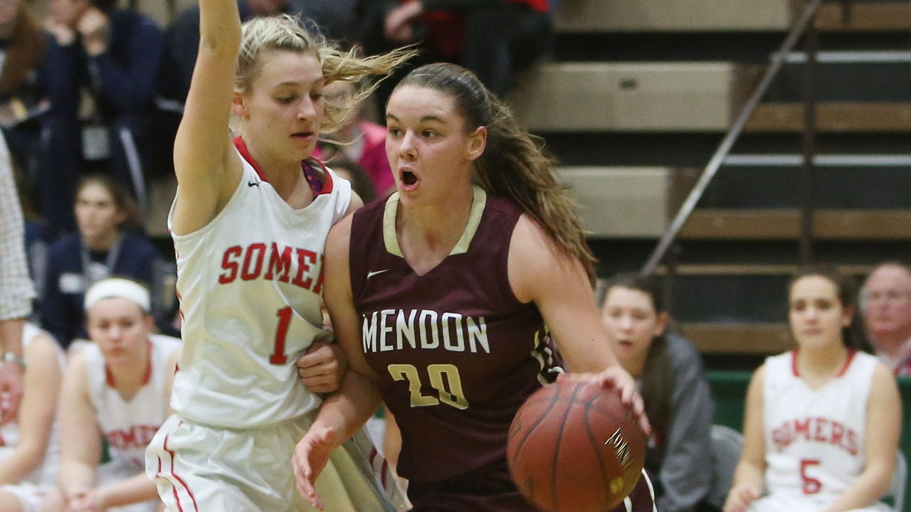 Pittsford Mendon beat Somers 53-41 on Friday to advance to the Class A state final.