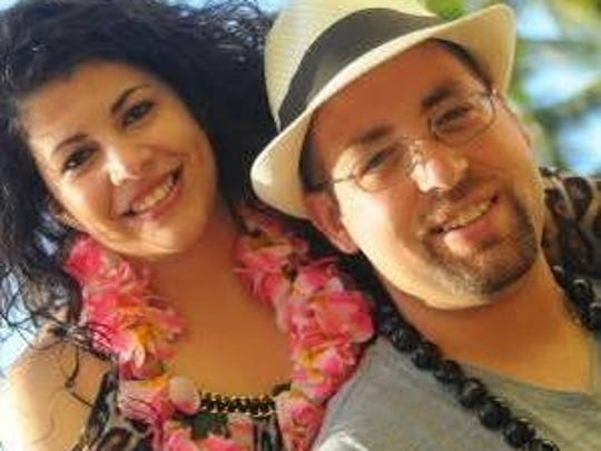Sal Brescia and his fiancee Kristin Neshewat, in Hawaii.