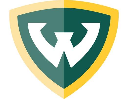 Wayne State University's logo.