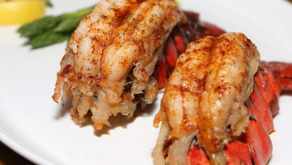 The twin lobster tail meal is one of many entree options