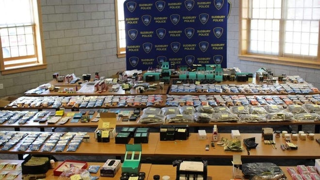 Sudbury police said the drugs pictured here are worth $250,000 on the street. They discovered the marijuana and THC edibles on Thurday.