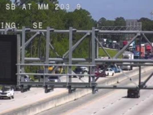 Traffic jam on Interstate 95