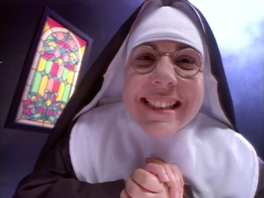 For five years, Sonya Avakian portrayed a nun in a series of commercials and bus placards for Channel 62.