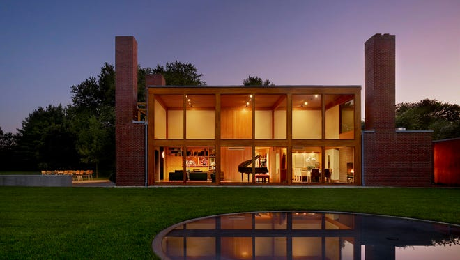 The Steven and Toby Korman House is located in Fort Washington, Pennsylvania, designed by Louis Kahn (1971–73)