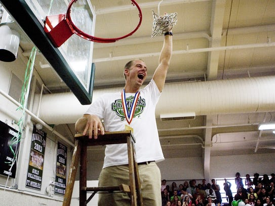 Fort Myers High head boys basketball coach Scott Guttery