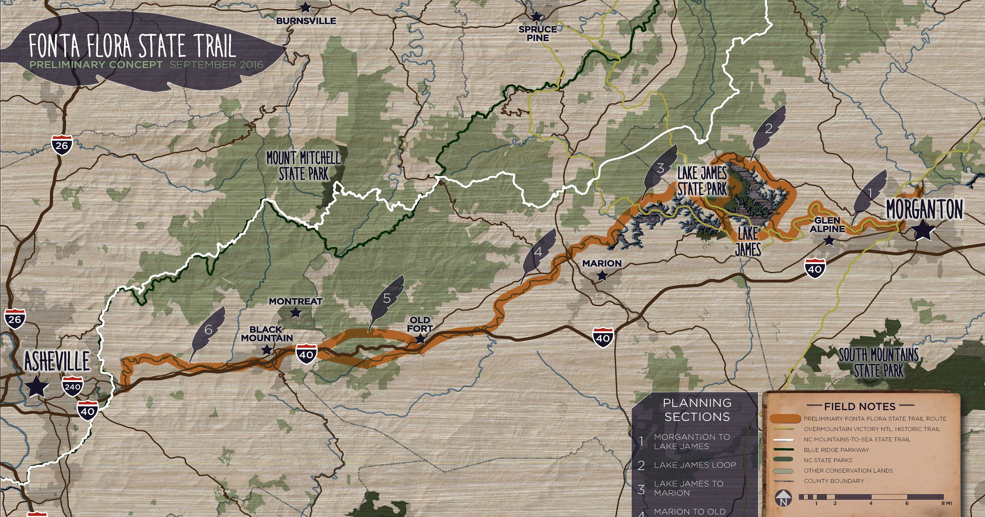 Fonta Flora Trail links foothills, mountains on