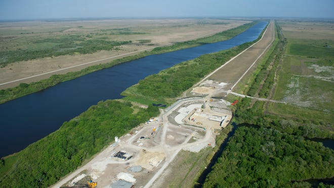 On a tour with the South Florida Water Management District, an aerial view of the Comprehensive Everglades Restoration Plan: Lake Okeechobee Aquifer Storage and Recovery pilot project is seen on March 24, 2017, in Okeechobee County.