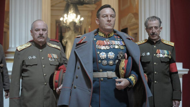 """Zhukov (Jason Isaacs) knows how to make an entrance in """"The Death of Stalin."""""""