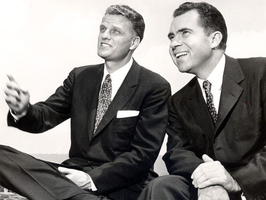 The Rev. Billy Graham and then-Vice President Richard