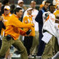 Former Vols coach Derek Dooley, seen here celebrating during the Music City Bowl in 2010, is among the coaches who have led Tennessee to bowl games after 2-3 starts.