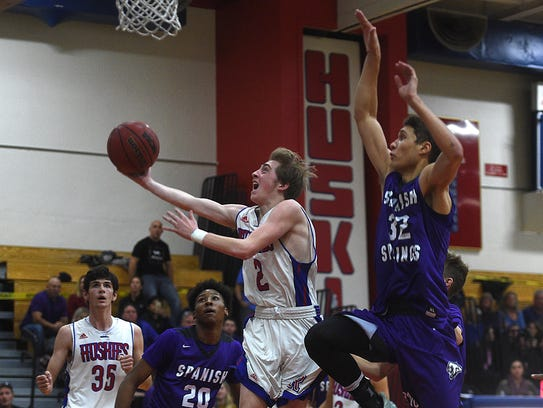 Reno takes on Spanish Springs during their basketball