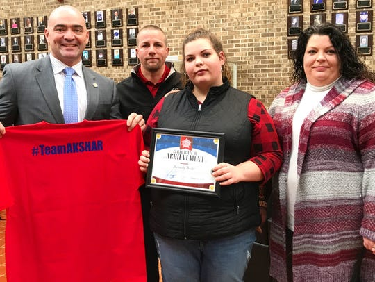Owego Free Academy senior Kennedy Keefer was recognized