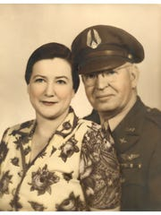 Madeline and Bert Krueger in 1943 in Stuart.