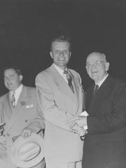 Billy Graham and Dr. M.E. Dodd of First Baptist Church