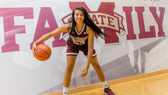 Ossining alumna Andra Espinoza-Hunter originally attended UConn, but transferred to Mississippi State in February.