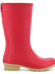 A pair of Chooka's Bainbridge rain boots in red would