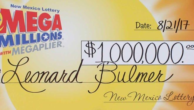 Leonard Bulmer, of Albuquerque, claimed his winning Mega Millions prize on Monday, Aug. 21, 2017.