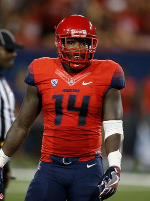 Arizona linebacker Paul Magloire Jr. (14) during the first half of an NCAA college football game against Grambling State, Saturday, Sept. 10, 2016, in Tucson.