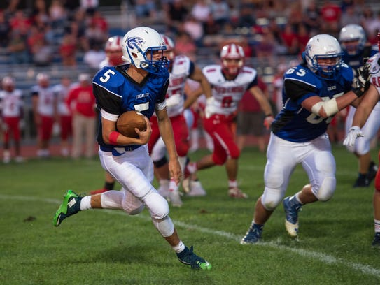 Cocalico's Colton Goodman runs the ball during a game